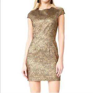 Diane Von Fursteberg Hadlie Metallic Dress SZ 10